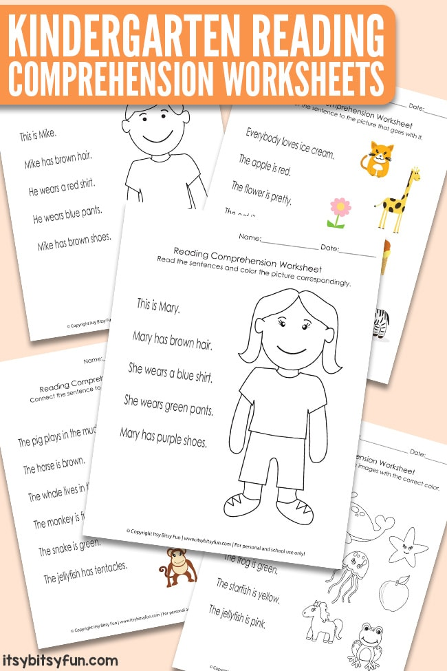 Reading Comprehension Worksheets for Kindergarten