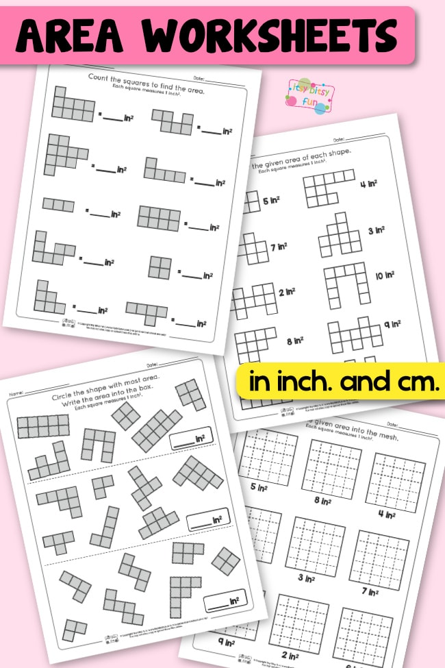 Area worksheets 2nd grade