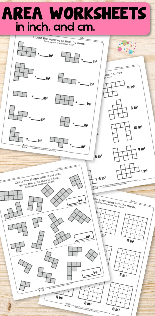 Area Worksheets - 2nd Grade Math Worksheets - Itsy Bitsy Fun