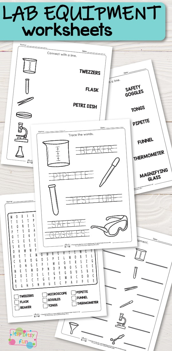 lab equipment worksheets itsy bitsy fun. Black Bedroom Furniture Sets. Home Design Ideas