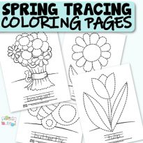 Spring Tracing Coloring Pages