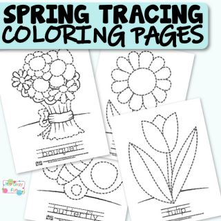 Free Printable Tracing Coloring Pages