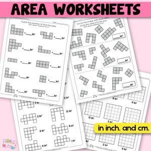 Area Worksheets – 2nd Grade Math Worksheets