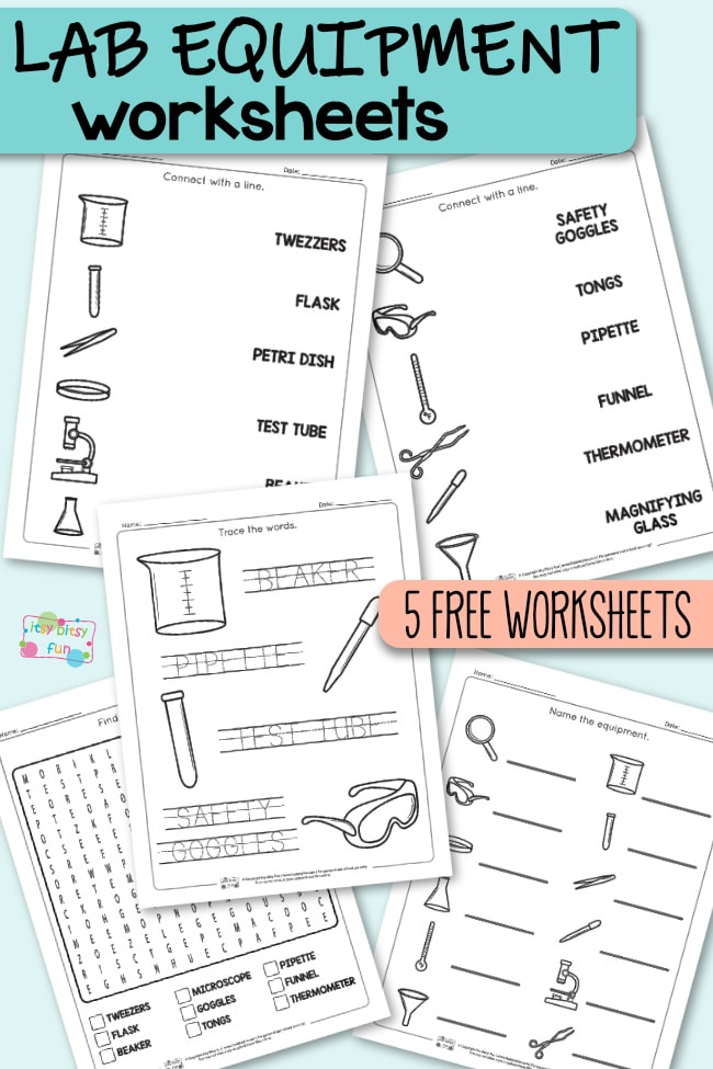 Lab Equipment Worksheets for Kids