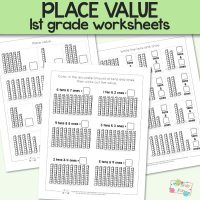 Place Value Worksheets for 1st Grade