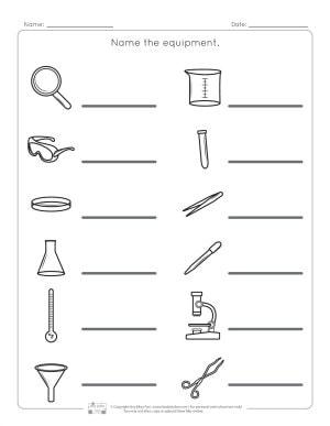 Lab Equipment Worksheets - Itsy Bitsy Fun