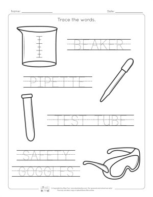 lab equipment worksheets  itsy bitsy fun trace the words  for younger kind kindergarten