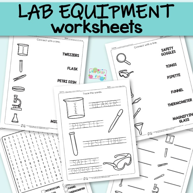 worksheets lab equipment science quiz itsybitsyfun students slowly utilized introducing items ab