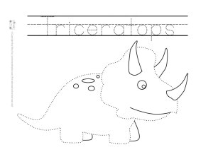 Dinosaur Tracing Coloring Pages Free Printable Itsy Bitsy Fun