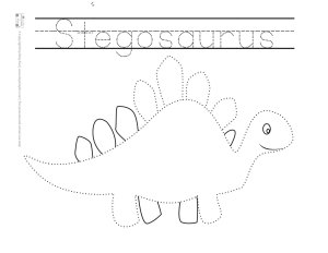 Dinosaur Tracing Coloring Pages Free Printable Itsy