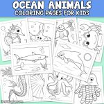 10 Ocean Animals Coloring Pages.
