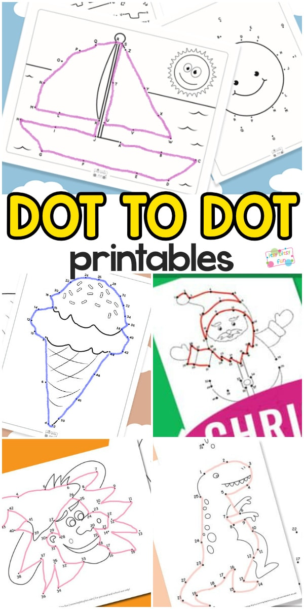Connect The Dots Printables for Kids