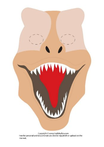 Printable Dinosaur Mask Template - T-Rex version 2