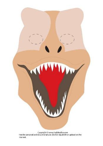 Printable Dinosaur Mask Template - T-Rex version 2