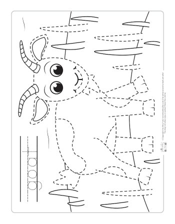 Farm Animals Tracing Coloring Pages Itsy Bitsy Fun