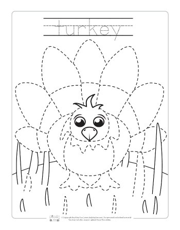 Farm Animals Tracing Coloring Pages