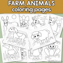 Farm Animals Coloring Pages for Kids