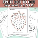 Fruits Dot to Dot Skip Counting Worksheets.