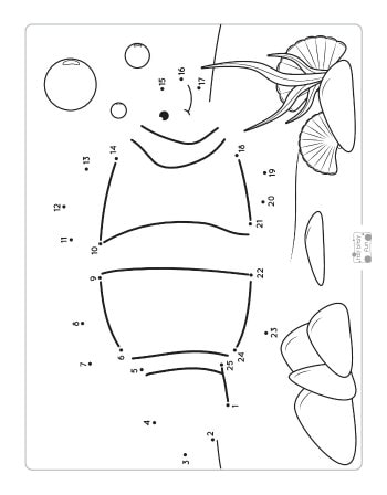 A Fish Dot to Dot Worksheet
