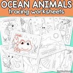 Ocean Animals Tracing Worksheets