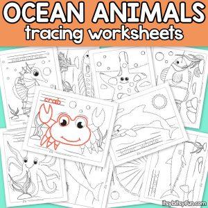 Ocean Animals Tracing Worksheets