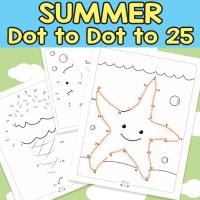 Summer Dot to Dot Worksheets