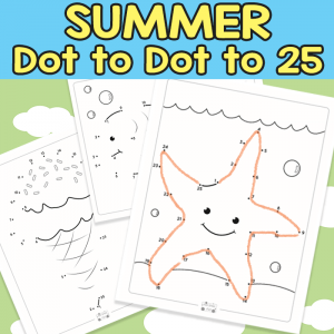 Summer Dot to Dot Worksheets