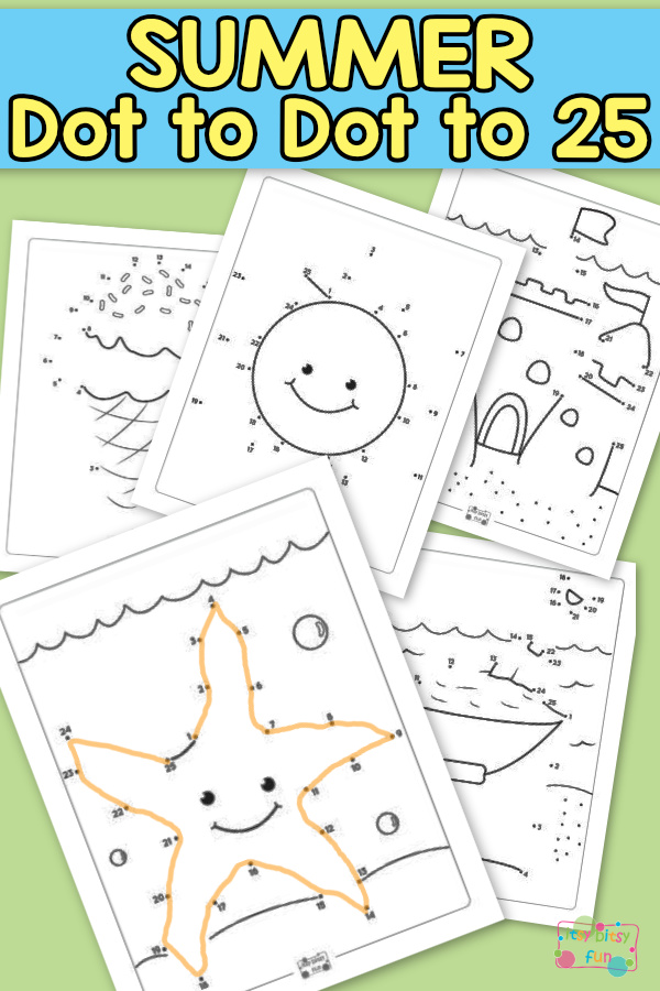 Summer Dot To Dot Worksheets Itsy Bitsy Fun