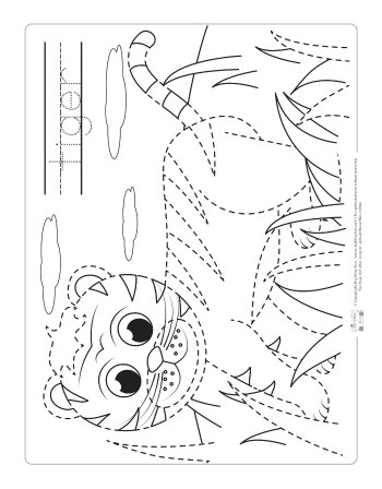 Tiger coloring page for kids.