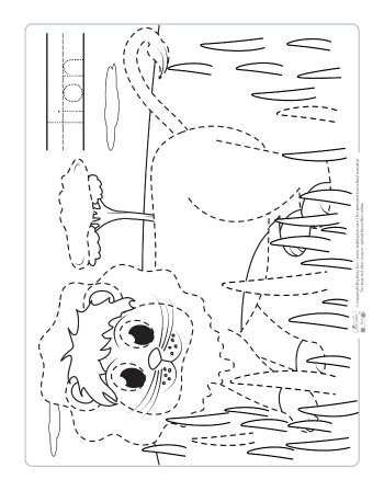 Lion coloring page for kids.