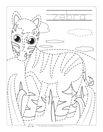 Safari And Jungle Animals Tracing Worksheets Itsy Bitsy Fun