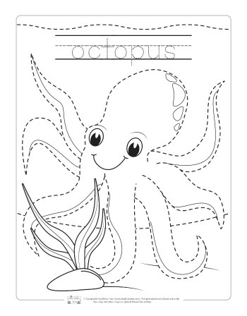 Octopus tracing worksheet.