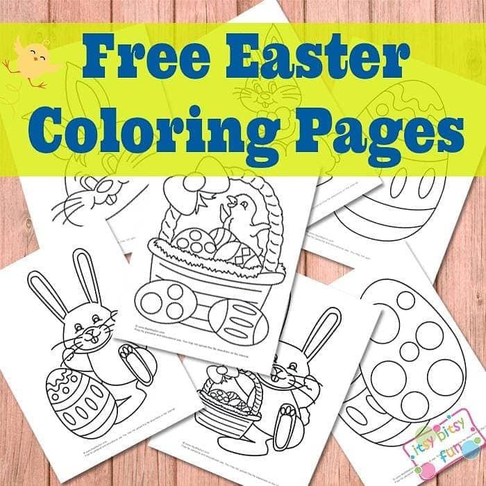 Easter coloring pages for kids.