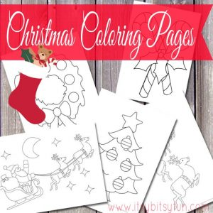 Printable Christmas coloring pages for kids.