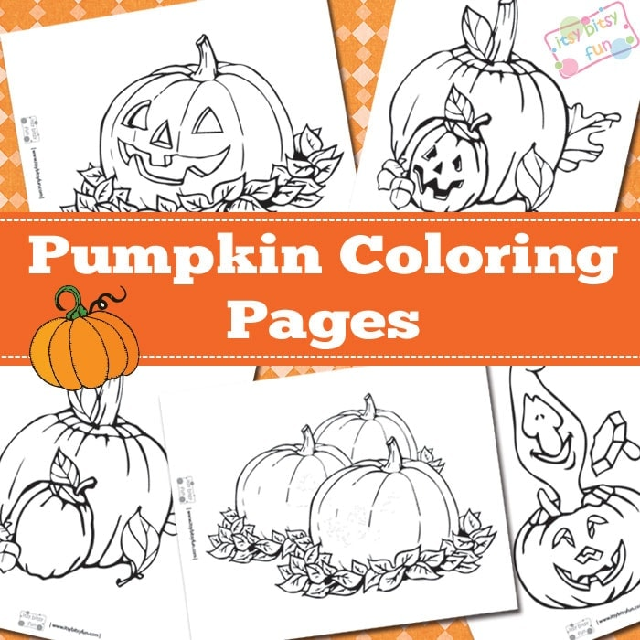 Pumpkin coloring pages for kids.
