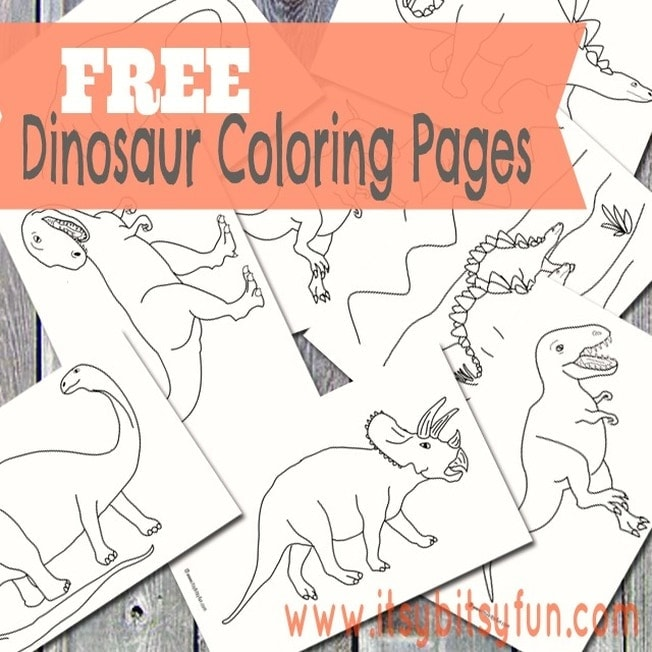 Dinosaur coloring pages for kids.