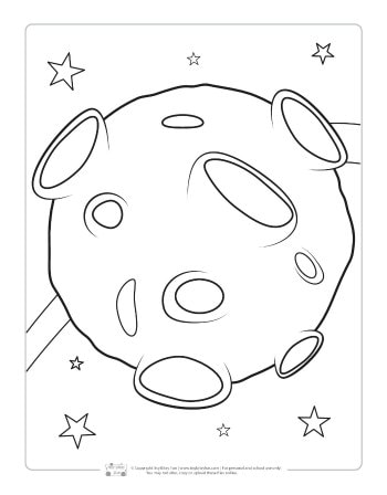 Meteor coloring page for kids.