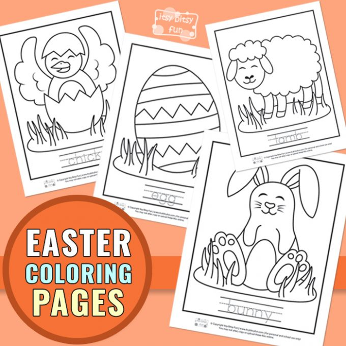 Printable Easter coloring pages for kids.