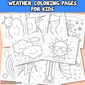 Printable Weather Coloring Pages for Kids