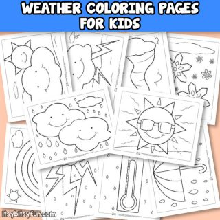 Weather Coloring Pages for Kids