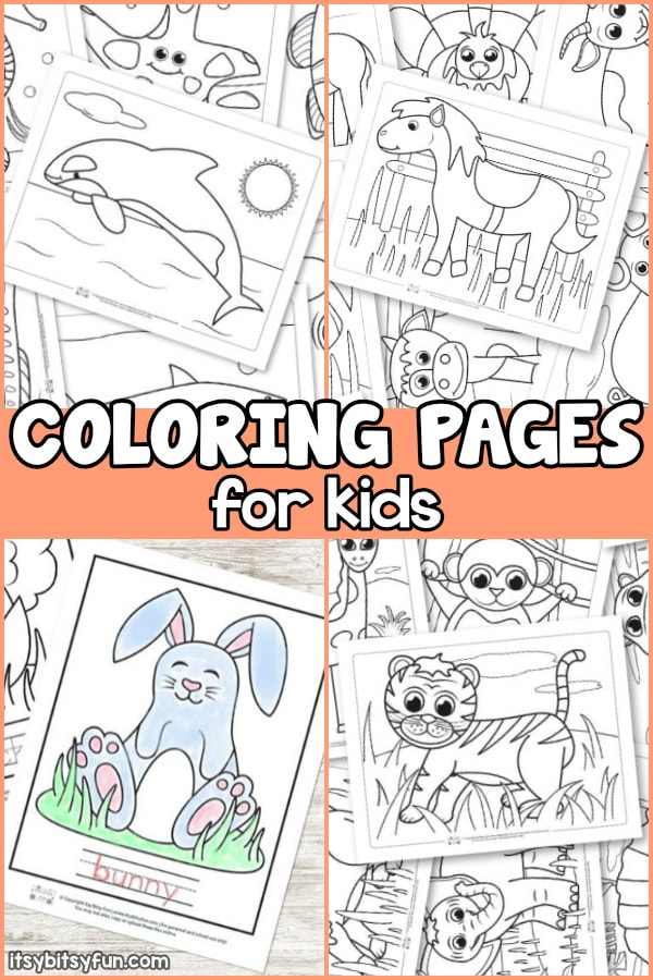 Printable coloring pages for kids. Over 100 coloring sheets for keeping kids busy and entertained for hour and hours.