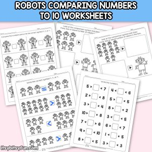 Robots Comparing Number Worksheets
