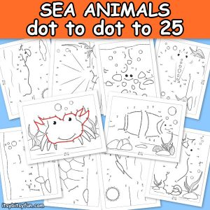 Ocean Animals Dot to Dot Worksheets