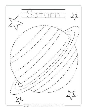 Space Tracing Worksheets Itsy Bitsy Fun