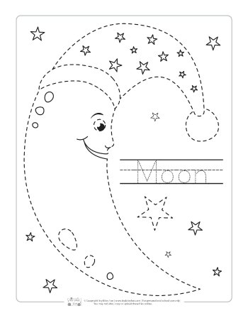 Moon tracing printable.