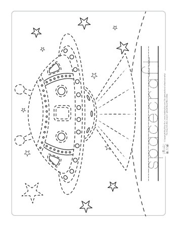 Space Tracing Worksheets - Itsy Bitsy Fun