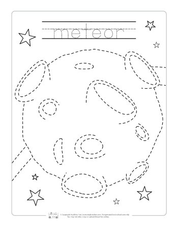 Meteor tracing printable.