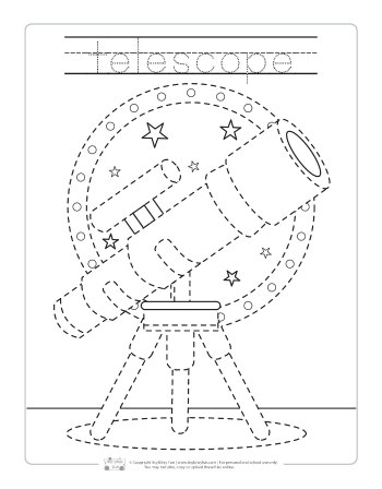 Telescope tracing printable.
