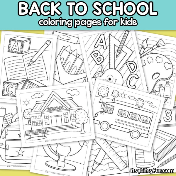 - Back To School Coloring Pages For Kids - Itsybitsyfun.com