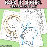 Back to School Alphabet Dot to Dot Worksheets